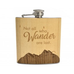Hip Flask Not all who Wander