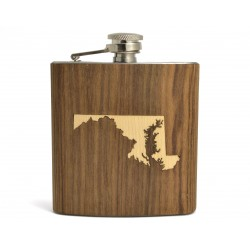 Hip Flask State Inlay
