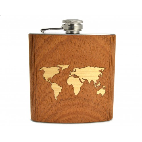 Hip Flask World Map